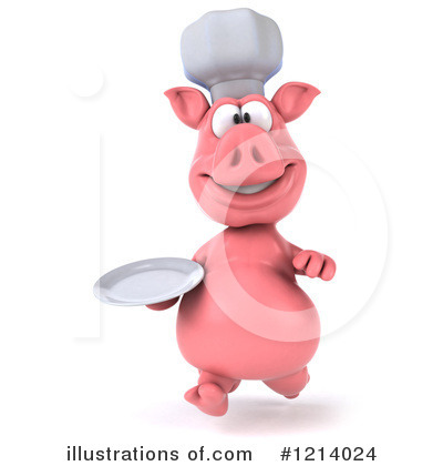 Chef Pig Clipart #1214024 by Julos