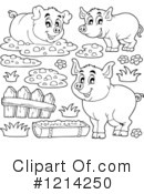 Pig Clipart #1214250 by visekart