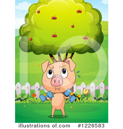 Royalty-Free (RF) Pig Clipart Illustration by Graphics RF - Stock Sample #1226583