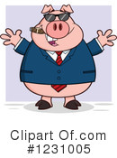 Pig Clipart #1231005 by Hit Toon