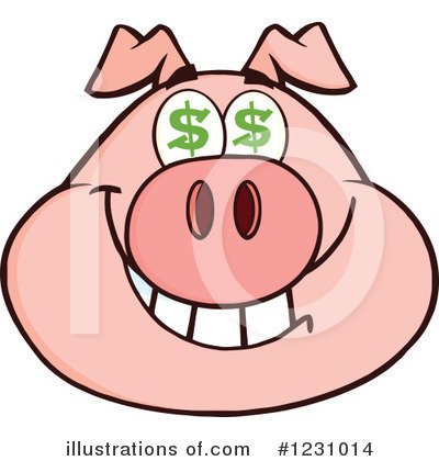 Pig Clipart #1231014 by Hit Toon
