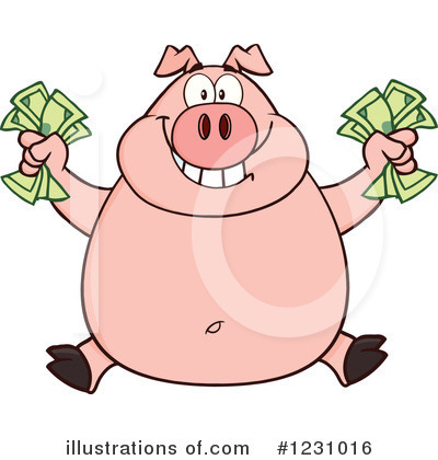 Pig Clipart #1231016 by Hit Toon