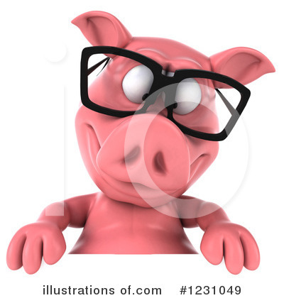 Royalty-Free (RF) Pig Clipart Illustration by Julos - Stock Sample #1231049