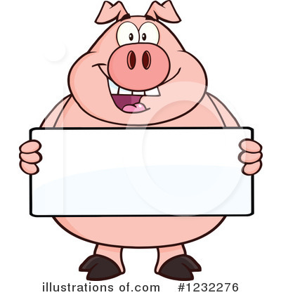 Pig Clipart #1232276 by Hit Toon
