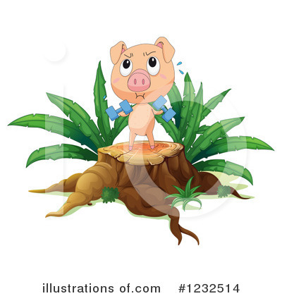 Royalty-Free (RF) Pig Clipart Illustration by Graphics RF - Stock Sample #1232514