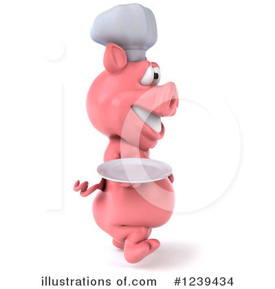 Chef Pig Clipart #1239434 by Julos