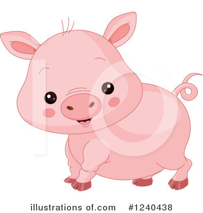 Pig Clipart #1240438 by Pushkin