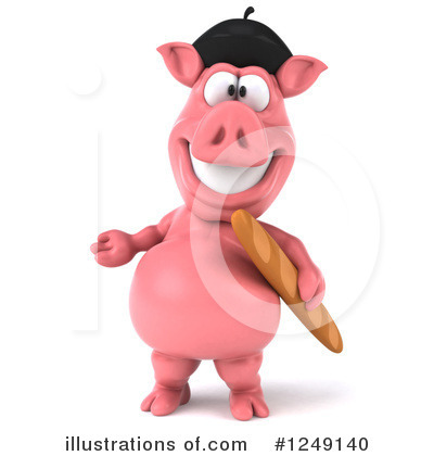 French Pig Clipart #1249140 by Julos