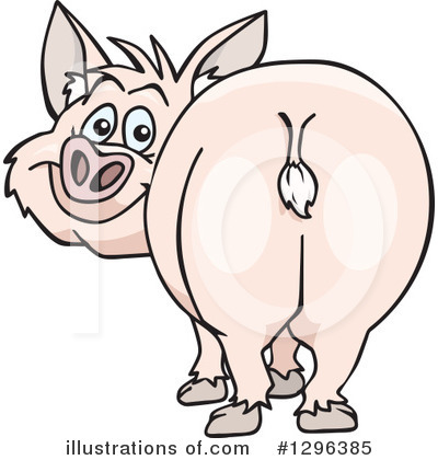 Royalty-Free (RF) Pig Clipart Illustration by Dennis Holmes Designs - Stock Sample #1296385