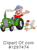 Royalty-Free (RF) Pig Clipart Illustration #1297474