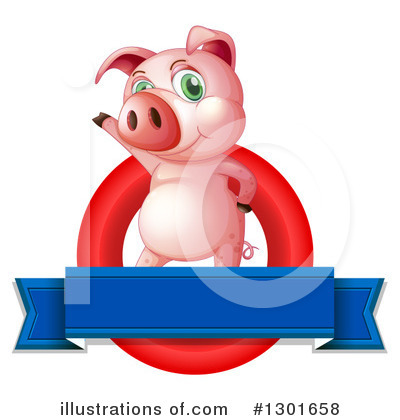Pig Clipart #1301658 by Graphics RF