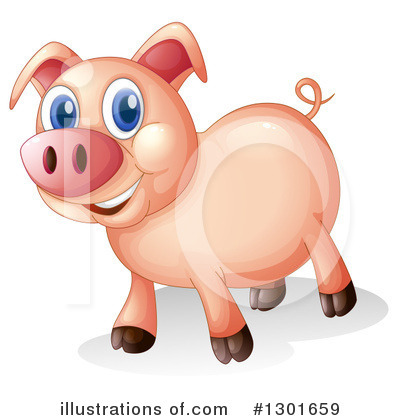 Pig Clipart #1301659 by Graphics RF