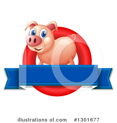 Pig Clipart #1301677 by Graphics RF