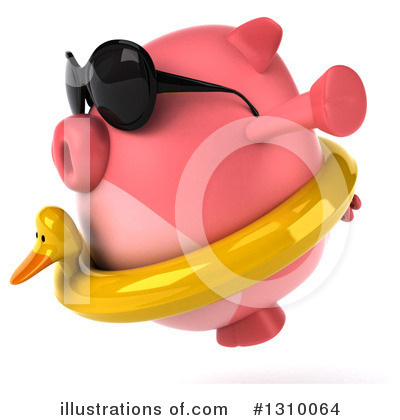 Chubby Pig Clipart #1310064 by Julos