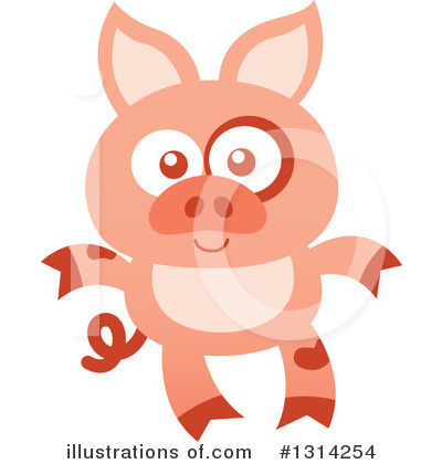 Pig Clipart #1314254 by Zooco