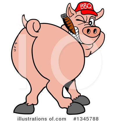 Royalty-Free (RF) Pig Clipart Illustration by LaffToon - Stock Sample #1345788