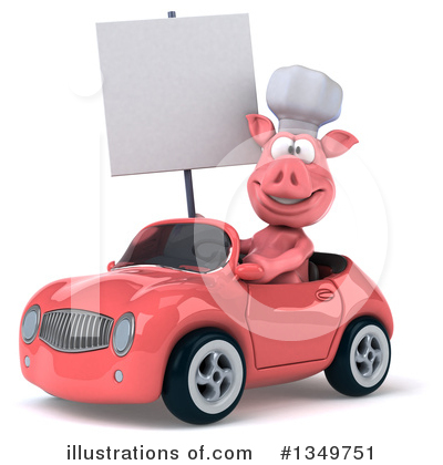 Chef Pig Clipart #1349751 by Julos