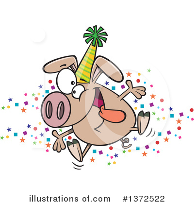 Pig Clipart #1372522 by toonaday
