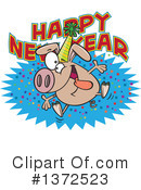 Royalty-Free (RF) Pig Clipart Illustration #1372523