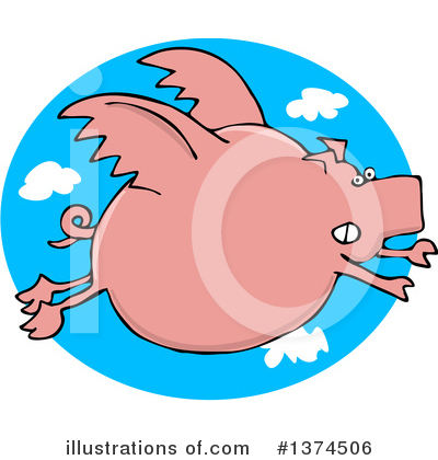 Royalty-Free (RF) Pig Clipart Illustration by djart - Stock Sample #1374506
