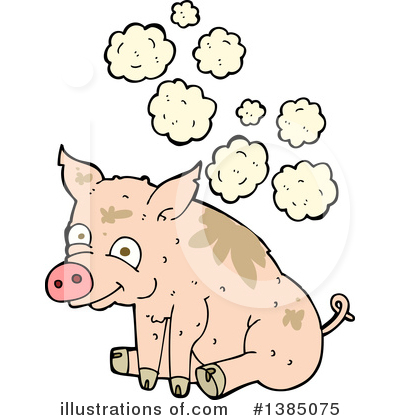 Royalty-Free (RF) Pig Clipart Illustration by lineartestpilot - Stock Sample #1385075