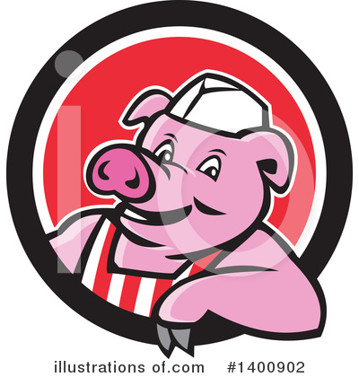 Royalty-Free (RF) Pig Clipart Illustration by patrimonio - Stock Sample #1400902