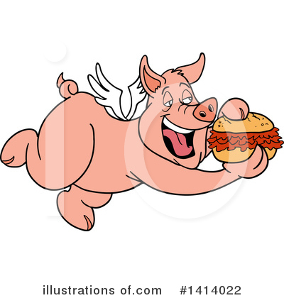 Royalty-Free (RF) Pig Clipart Illustration by LaffToon - Stock Sample #1414022