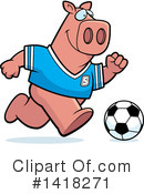 Pig Clipart #1418271 by Cory Thoman