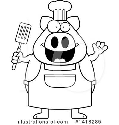 Spatula Clipart #1418285 by Cory Thoman