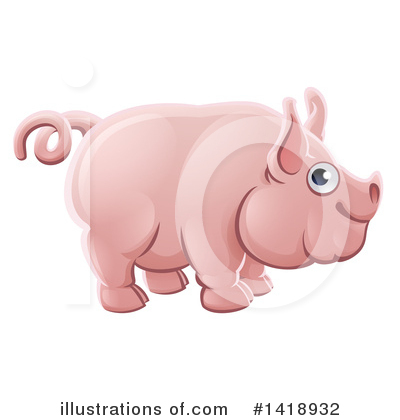 Pigs Clipart #1418932 by AtStockIllustration