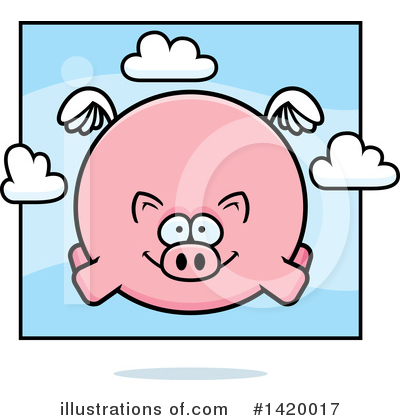 Royalty-Free (RF) Pig Clipart Illustration by Cory Thoman - Stock Sample #1420017