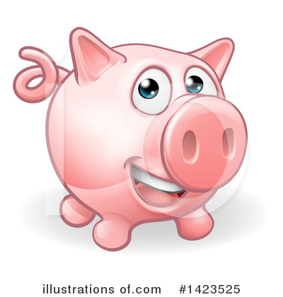 Pig Clipart #1423525 by AtStockIllustration