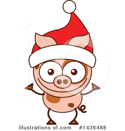 Pig Clipart #1436488 by Zooco