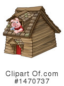 Royalty-Free (RF) Pig Clipart Illustration #1470737