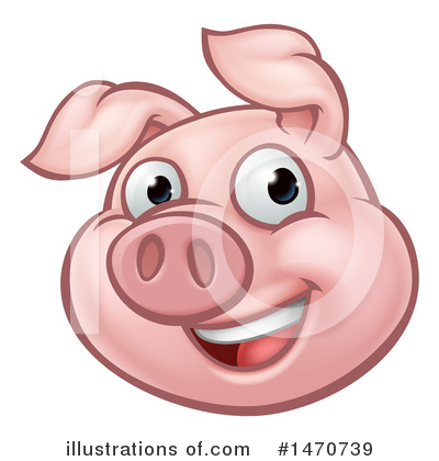 Pig Clipart #1470739 by AtStockIllustration