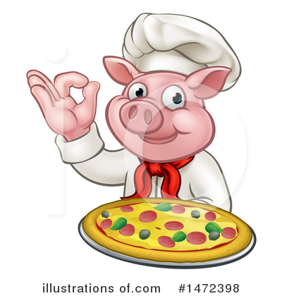 Chef Pig Clipart #1472398 by AtStockIllustration