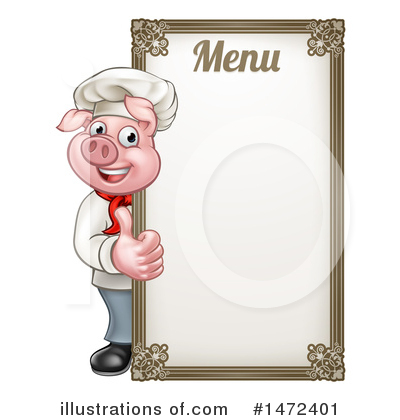 Chef Pig Clipart #1472401 by AtStockIllustration