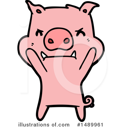 Royalty-Free (RF) Pig Clipart Illustration by lineartestpilot - Stock Sample #1489961