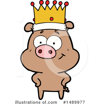 Royalty-Free (RF) Pig Clipart Illustration by lineartestpilot - Stock Sample #1489977
