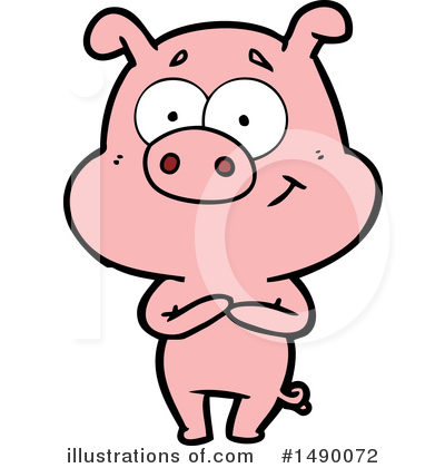 Royalty-Free (RF) Pig Clipart Illustration by lineartestpilot - Stock Sample #1490072