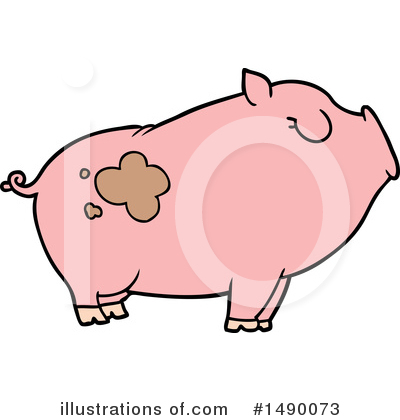 Royalty-Free (RF) Pig Clipart Illustration by lineartestpilot - Stock Sample #1490073