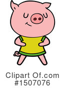 Pig Clipart #1507076 by lineartestpilot
