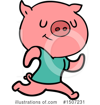 Royalty-Free (RF) Pig Clipart Illustration by lineartestpilot - Stock Sample #1507231