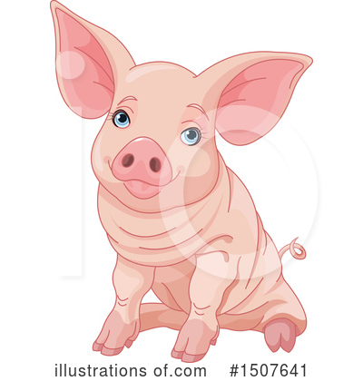 Royalty-Free (RF) Pig Clipart Illustration by Pushkin - Stock Sample #1507641