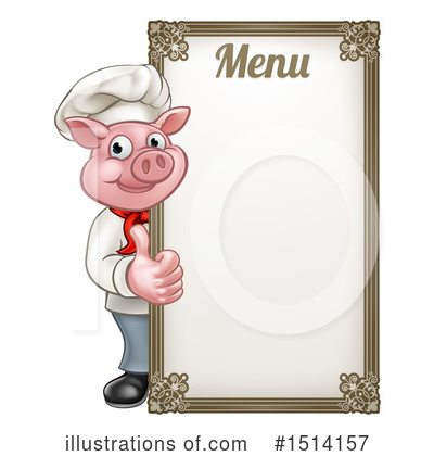 Chef Pig Clipart #1514157 by AtStockIllustration