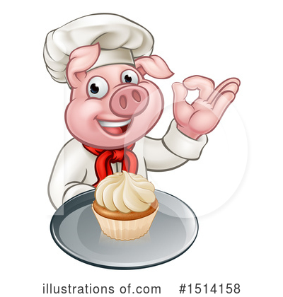 Chef Pig Clipart #1514158 by AtStockIllustration