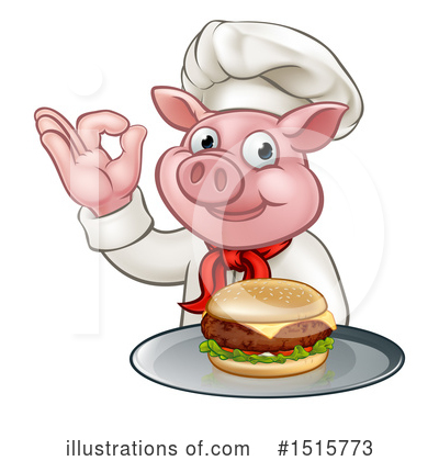 Chef Pig Clipart #1515773 by AtStockIllustration