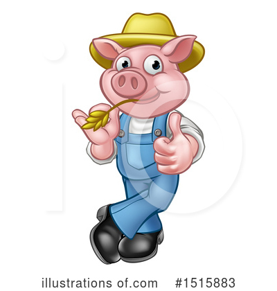 Pig Clipart #1515883 by AtStockIllustration