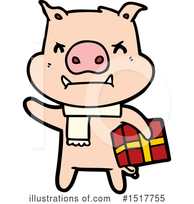 Royalty-Free (RF) Pig Clipart Illustration by lineartestpilot - Stock Sample #1517755