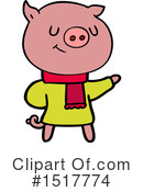 Pig Clipart #1517774 by lineartestpilot